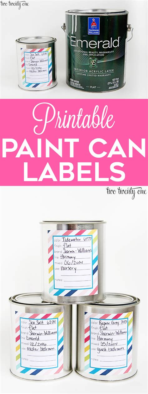 Paint Can Labels Paint Can Label Template