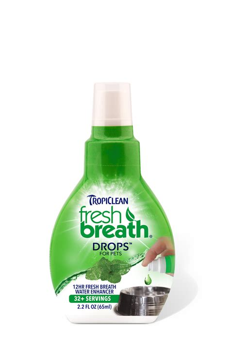 how to freshen dogs breath fresh breath drops for pets tropiclean pet products for dogs and cats