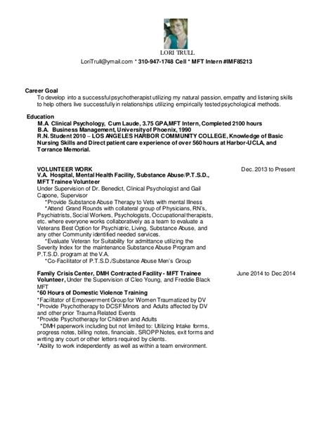 mft trainee resume resume ideas