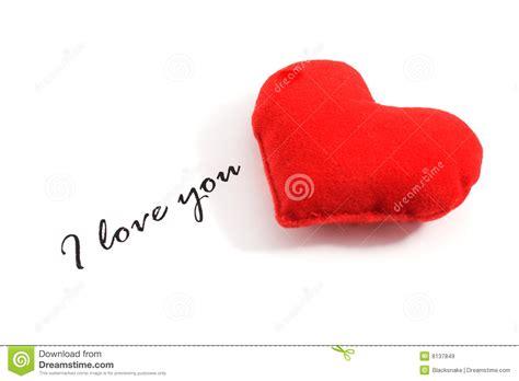 amo testo ti amo testo e cuore immagine stock immagine di rosso