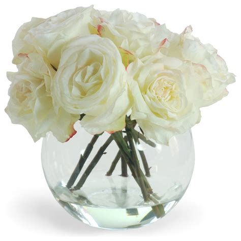 Artificial Flowers Vase by In Vase Flower Arrangement White Traditional