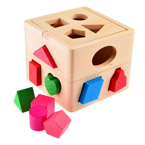 zoetoys big baby intelligence box 13 holes intelligence box for shape sorter cognitive and
