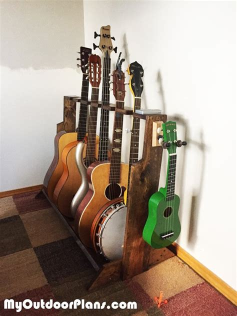 diy multi guitar wood stand myoutdoorplans