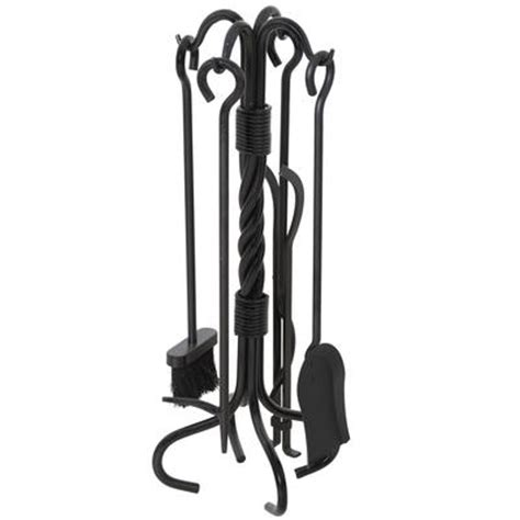 muskoka 5 matte black fireplace tool set home