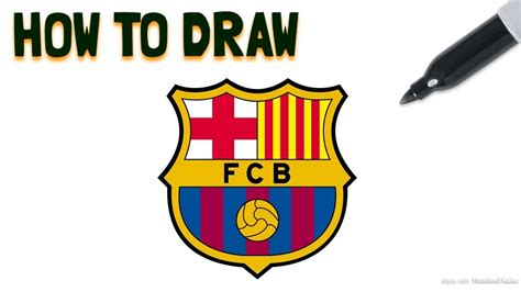 tutorial logo barcelona how to draw the fc barcelona logo drawing tutorial my