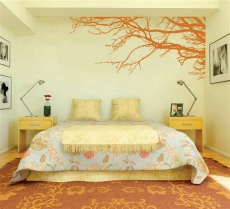 Decorating Bedroom With Modern Wall Stickers Paint Designs Bedroom Paint Design