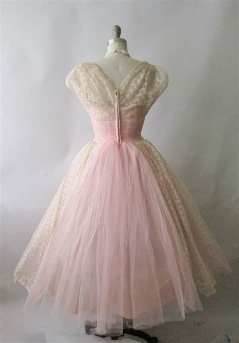 vintage 50s prom dresses prom 50 s prom dress vintage 1950 s embroidered pink tulle