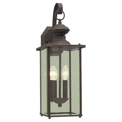 Antique Outside Light Fixtures Sea Gull Lighting Jamestowne 2 Light Antique Bronze Outdoor Wall Fixture 8468 71 The Home Depot
