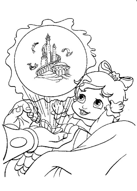 coloring pages of the little mermaid 2 the little mermaid 2 coloring pages baby ariel and melody