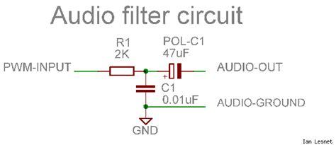 pwm input capacitor pwm signal to audio signal possible diyaudio