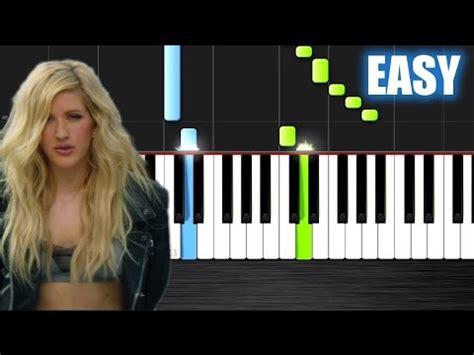 tutorial piano outside calvin harris outside ft ellie goulding easy piano