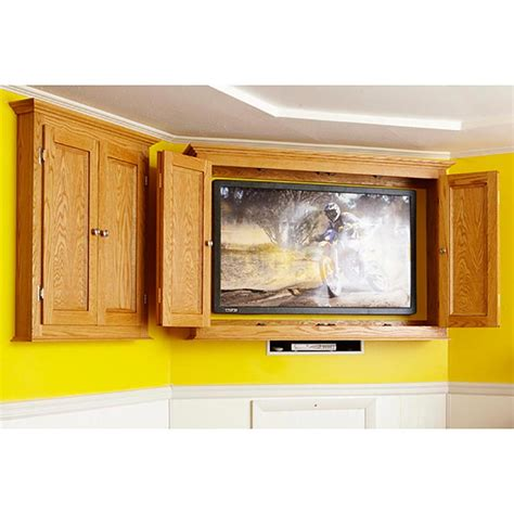 slim tv armoire slim profile tv game cabinet woodworking plan from wood