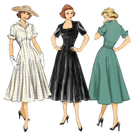 vintage patterns 1950s a 1849940940 butterick pattern 6018 vintage retro fitted 1950 s misses plus size dress 6 22 ebay