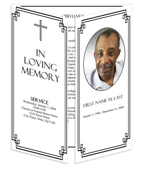 Memorial Card Template Publisher by Funeral Program Templates Gatefold Classic Cross