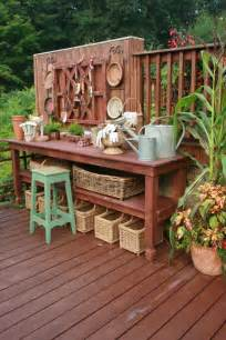 pretty potting tables for sprucing your home