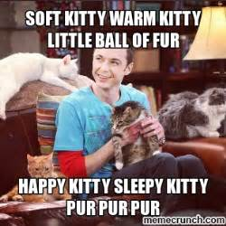 Soft Kitty Meme - soft kitty sheldon cooper quotes quotesgram