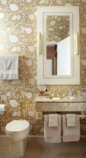 wallpaper bathroom pinterest gold white bathroom wallpaper walls ceilings pinterest