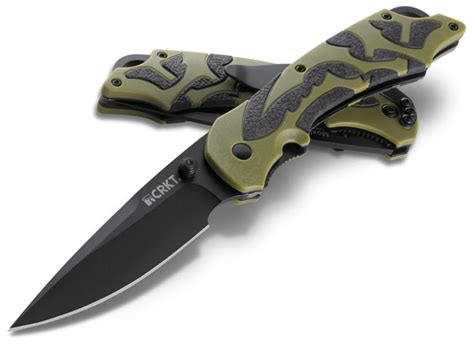 harry carry knife crkt moxie 1101 olive drab assisted open pocket knife