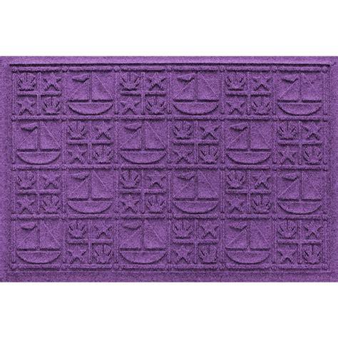 Purple Doormat by Aqua Shield Purple 24 In X 36 In Nautical Polypropylene