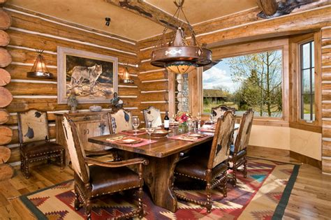 stunning western dining room sets pictures home design tribal rug dining room rustic with bay window cabin