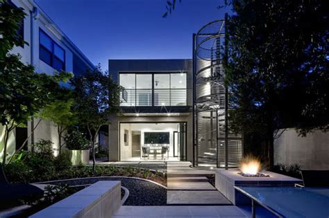 dallas residential architects spiral stairway defining a luxurious residential house in