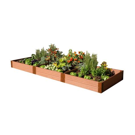 composite raised garden bed frame it all one inch series 4 ft x 12 ft x 11 in composite raised garden bed kit