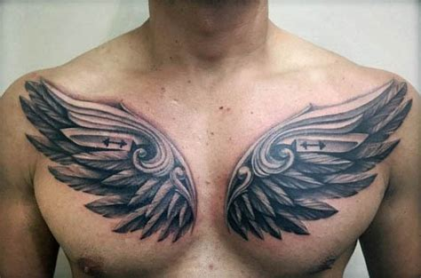 Chest Tattoo Gym | 50 fitness tattoos for men bodybuilding design ideas