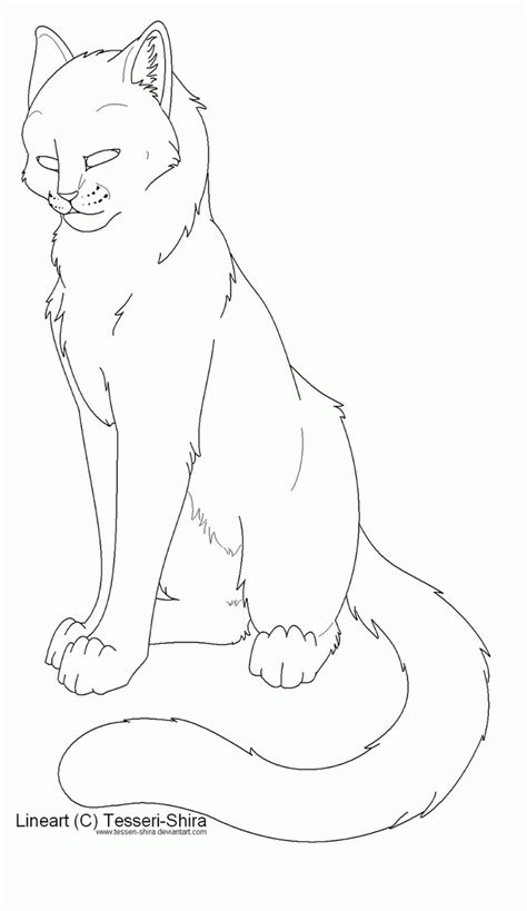 cat coloring page warrior cat coloring home