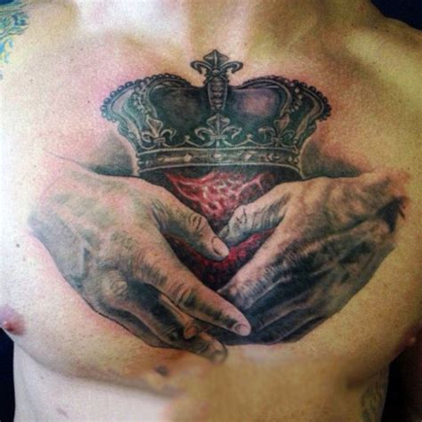 tattoo chest hold 50 claddagh tattoo designs for men irish icon ink ideas