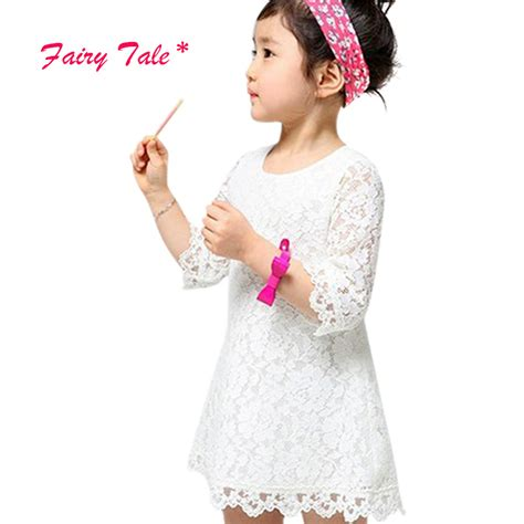 Baby Lovely Lace Dress lovely baby lace floral flower a line dresses summer princess dress 2 7y in
