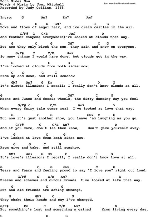 Both Sides Now Guitar Chords
