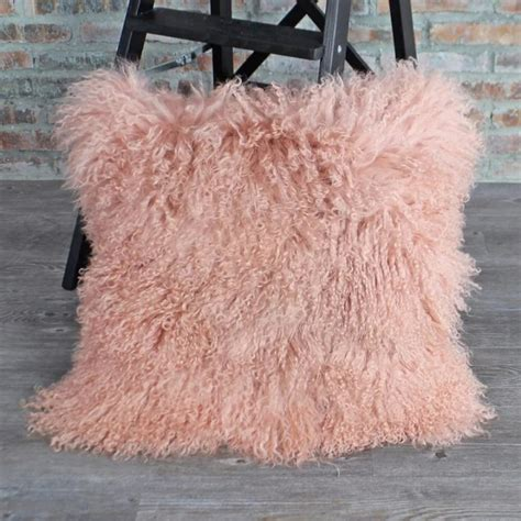 pink fur wallpaper for bedrooms 183 light pink mongolian lamb fur pillow cover double sides