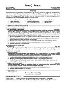 resume sles administrative assistant writing and