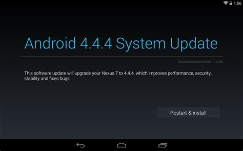 android system update android er nexus 7 receive android 4 4 4 system update