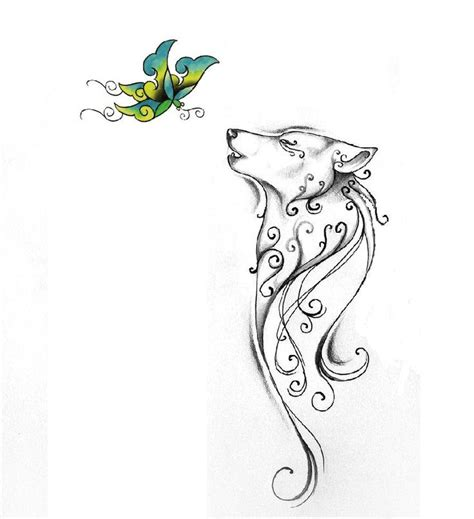 wolf butterfly tattoo designs 25 best ideas about simple wolf on one