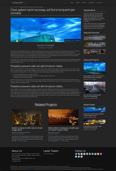 drupal theme item list corporate x bootstrap 3 business drupal theme by