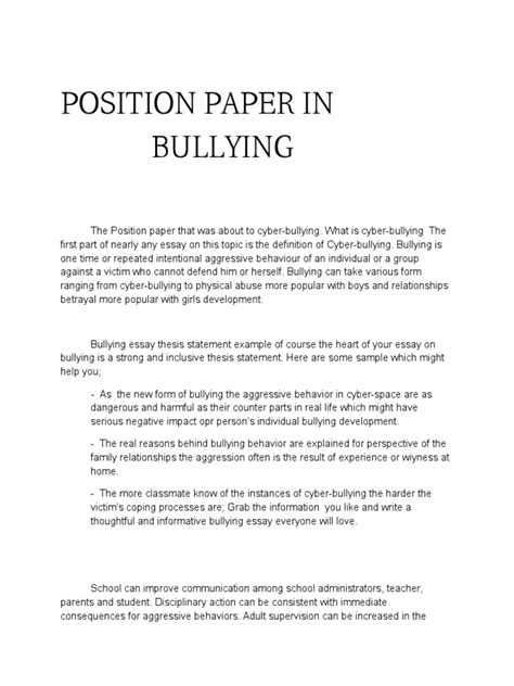 chapter 1 thesis about bullying essay bullying essays on bullying essay on bullying org
