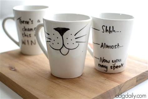 amazing diy coffee mugs diy craft projects diy personalized mugs with sharpie diy craft projects