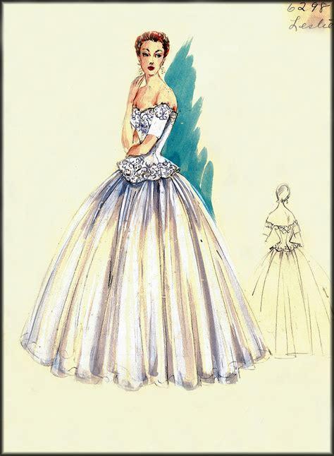 house designer clothing vintage fashion design sketches bergdorf goodman house of retro