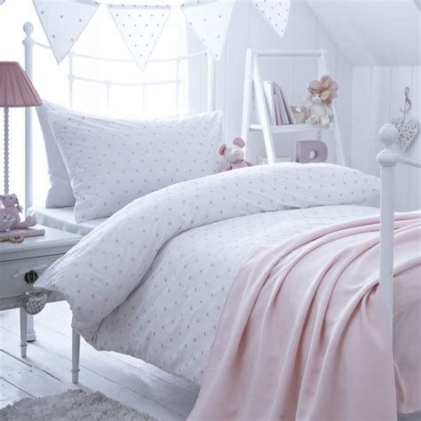 Bed Cover Single dotty pink single duvet cover