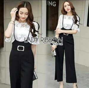 Setelan Inner Dan Overal Ootd By setelan baju jumpsuit dan inner brukat cantik ala korea modern model terbaru
