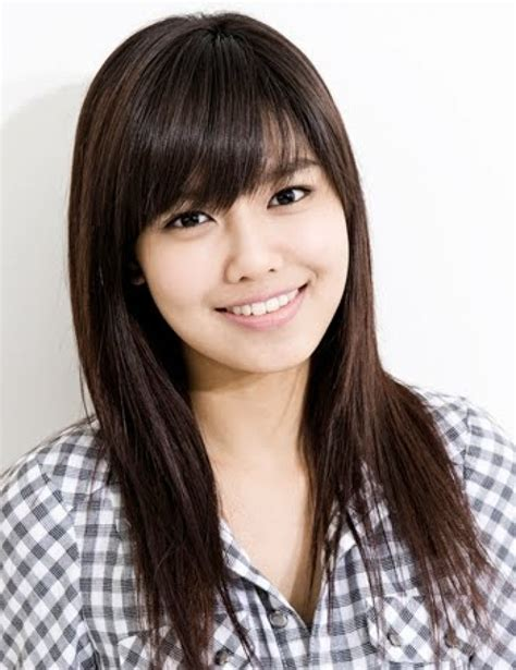 haircuts for japanese straightened hair side swept bangs round face asian www imgkid com the