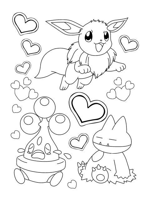 pokemon valentine coloring pages eevee pokemon coloring pages coloring home
