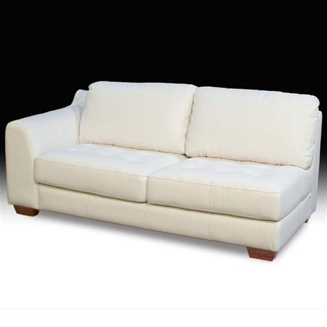one seat sofa left facing one armed all leather tufted seat sofa sofas