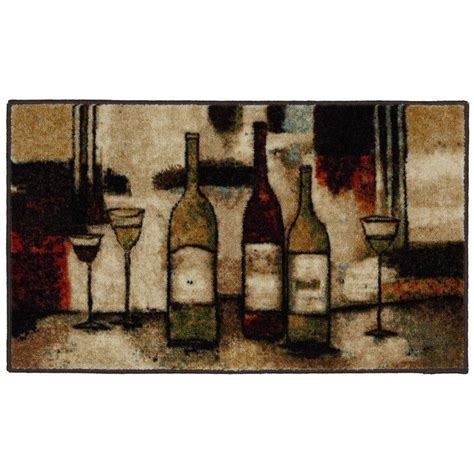 Wine Kitchen Rug by Mohawk Home Wine And Glasses Multi 1 Ft 8 In X 3 Ft 9