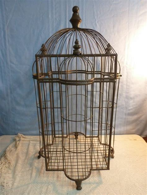 Home Decor Bird Cage Vintage Large Wire Bird Cage Wedding Card Box Home Decor Pe