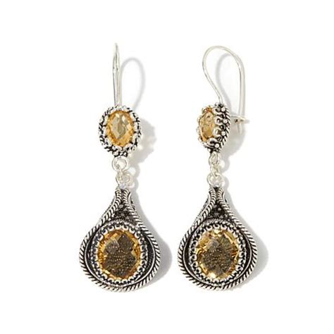 Ottoman Silver Jewellery Ottoman Silver Jewelry Collection 10 4ctw Citrine Filigree Drop Earrings 8229835 Hsn