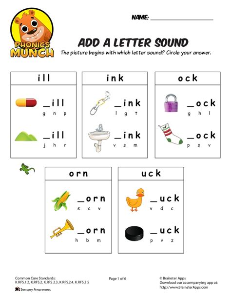 Phonics Worksheets by Add A Letter Sound Phonics Worksheet
