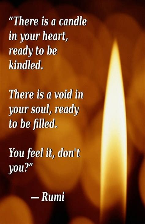 to rumi lyrics there is a candle in your ready to be kindled