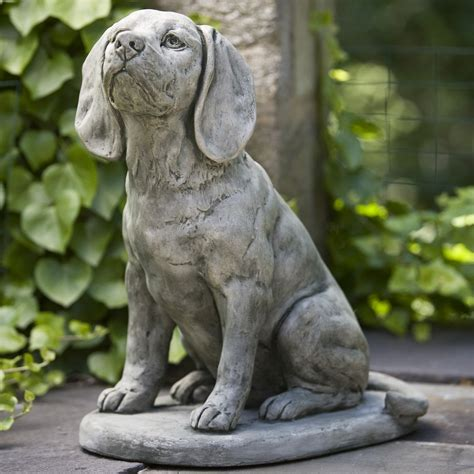 outdoor statues cania international scout the beagle cast garden statue garden statues at